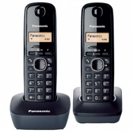 Panasonic telefon KX-TG1612FXH - tamno sivi + dodatna slušalica