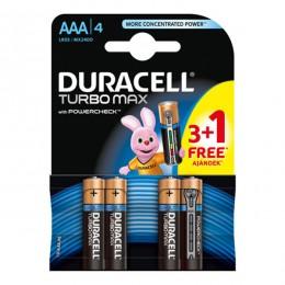 Duracell baterije TURBO MAX AAA 3+1 GRATIS