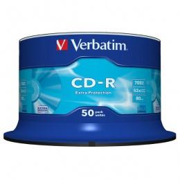 Verbatim CD-R 52x, 700MB, 50/1 Spindle (43351)