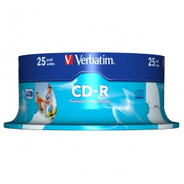 Verbatim CD-R 700MB 52x DataLife PRINTABLE 25/1 (V043439)