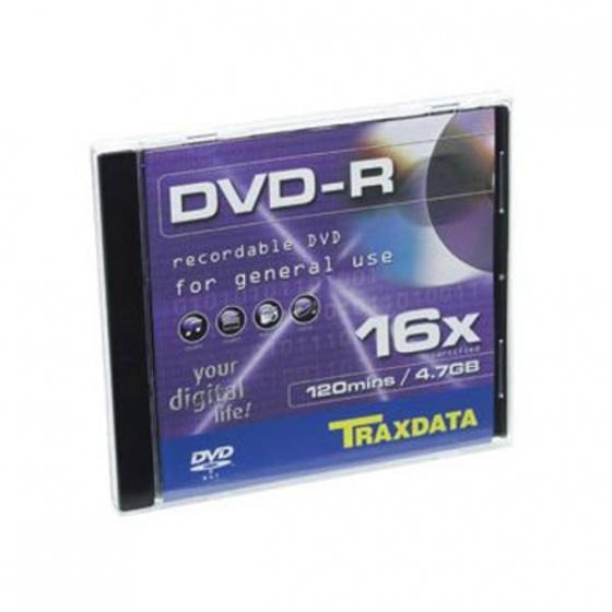 Traxdata DVD-R 1/1 jedan disk u kutiji 16X, 4,7GB