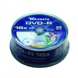 Traxdata DVD-R Full Printable CAKE 25