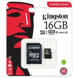 Kingston MC MicroSD 16GB Class 10 UHS-I, SDCS/16GB