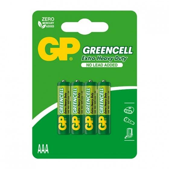 Baterija GP GREENCELL AAA 1,5V blister 4/1 B1211