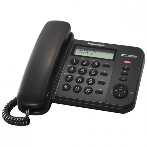 Panasonic KX-TS560FXB Stolni telefon, crni