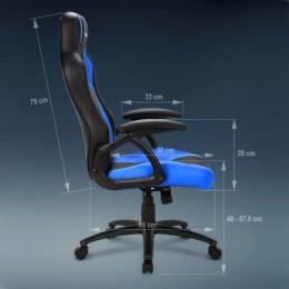 Sharkoon stolica gaming Shark Skiller SGS1 K/RD crna/crvena
