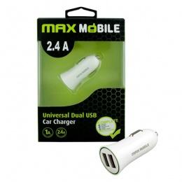 Max mobile auto punjač USB DUO SC-106 2,4A bijeli